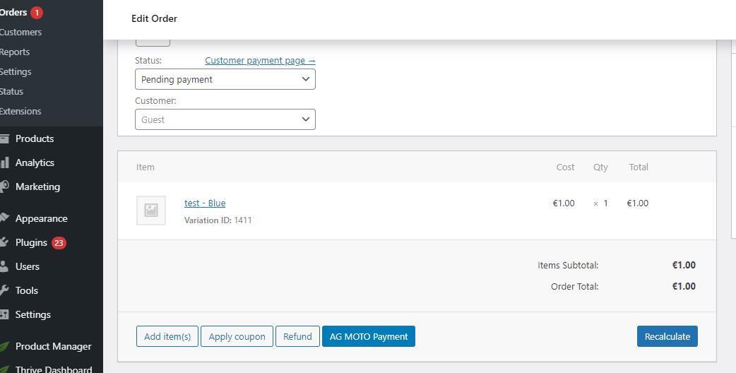 Edit order ‹ we are ag — WordPress - Google Chrome 2021-07-30 at 8.40.59 PM